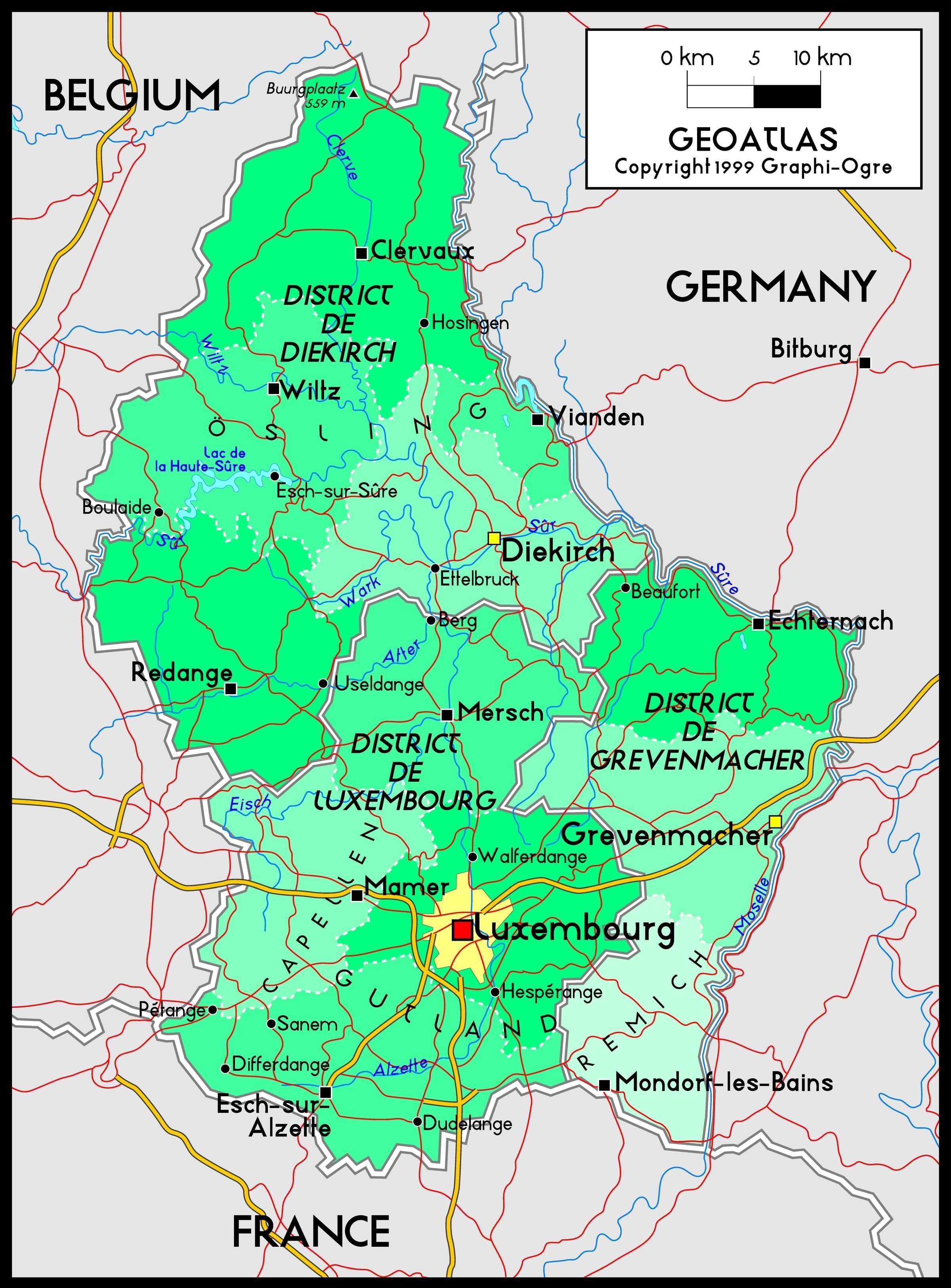 Luxemburg Kartta Luxemburg Kartta Sijainti Lansi Eurooppa
