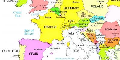Luxemburg Kartta Kartat Luxemburg Lansi Eurooppa Eurooppa